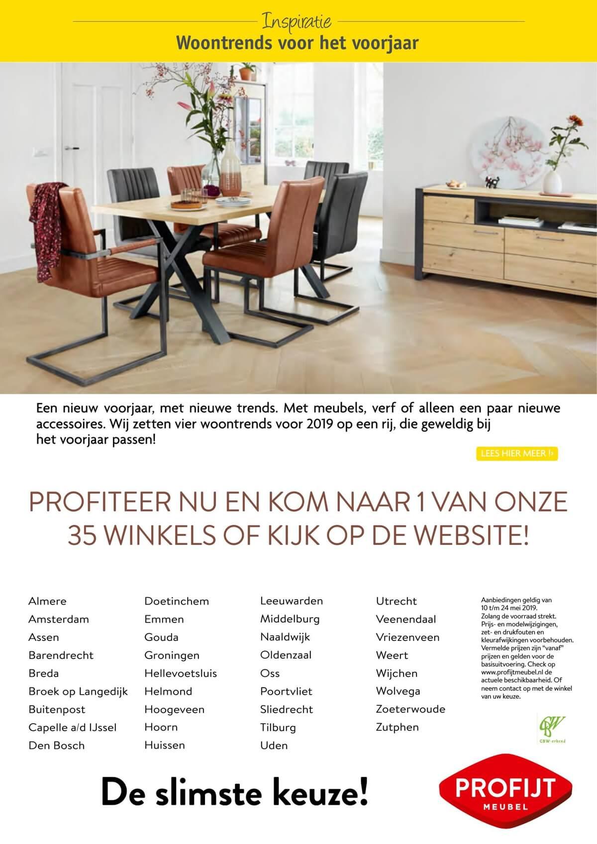 Profijt Meubels Groningen.Actuele Profijt Meubel Folder